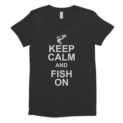 ''Keep calm and fish on'' Women's Crew Neck T-shirt