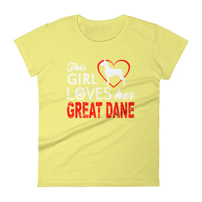 ''This girl loves her grain dane'' Women's short sleeve t-shirt