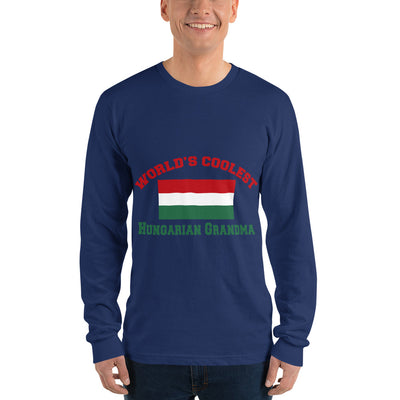 World coolest Hungarian grandma'' Long sleeve t-shirt (unisex)