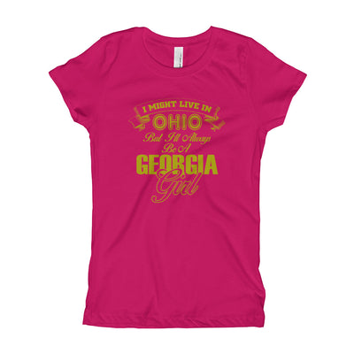 ''I might be Ohio girl but I always be Georgia girl'' Girl's T-Shirt
