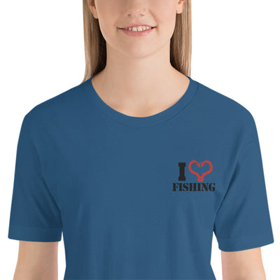 ''I love fishing'''Short-Sleeve Unisex T-Shirt