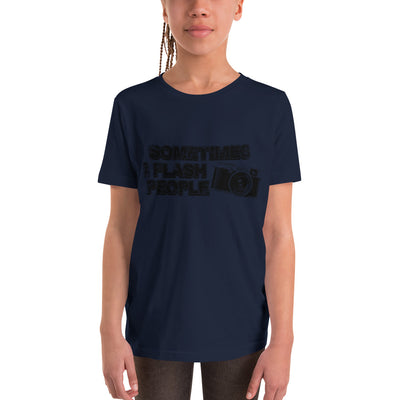 ''Sometimes I flash people'' Youth Short Sleeve T-Shirt