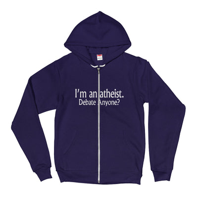 ''I am an atheist debate anyone'' Hoodie sweater