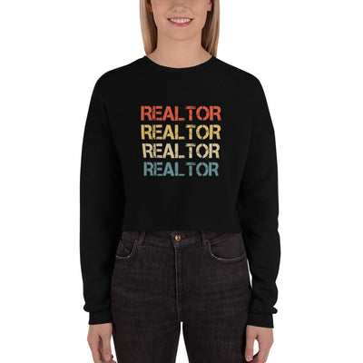 ''Realtor' Crop Sweatshirt
