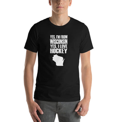 """YES IM FROM WISCONSIN'' Short-Sleeve Unisex T-Shirt"