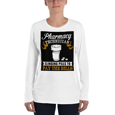 ''Pharmacy technician'' Ladies' Long Sleeve T-Shirt