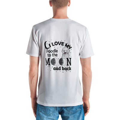 ''I love my doodle to the moon and back, Toodle'' Men's T-shirt