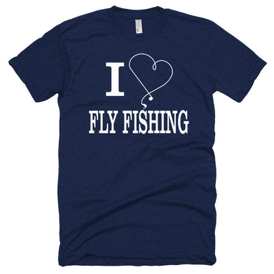 ''I love fly fishing'' Short sleeve soft t-shirt
