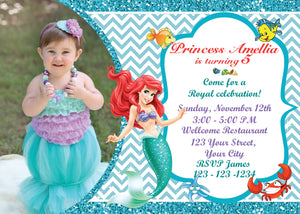 Little mermaid invitationariel birthday invitationslittle mermaid little mermaid invitationariel birthday invitationslittle mermaid birthdayariel invitationbirthday filmwisefo