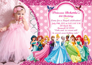 SALE Disney Princess Birthday Invitation Girls