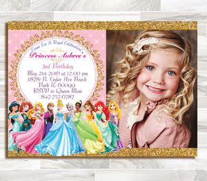 Sale disney princess birthday invitation disney princess sale disney princess birthday invitation disney princess invitation princess invitation girls birthday stopboris Images