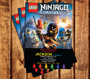 Ninjago Invitation Ninjago Invitations Ninjago Birthday Ninjago