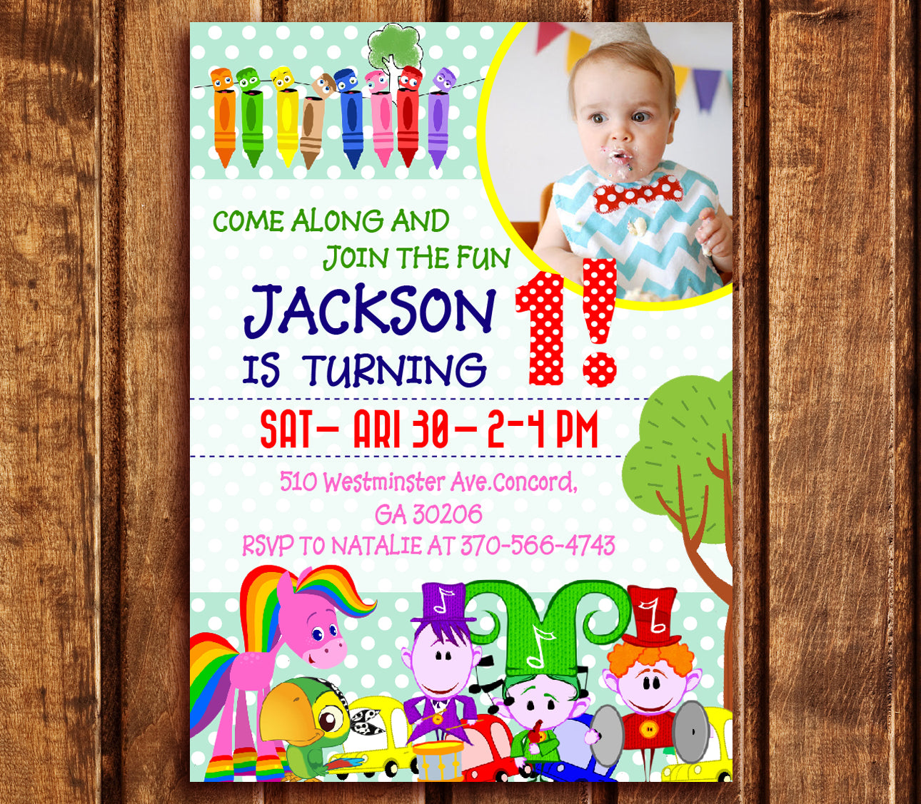 Baby First TV Birthday Party Invitations, Baby First TV Digital ...