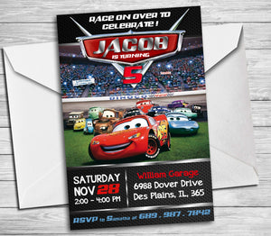 Cars birthday invitation disney cars party invite cars lightening cars birthday invitation disney cars party invite cars lightening mcqueen digital printable cars solutioingenieria Image collections
