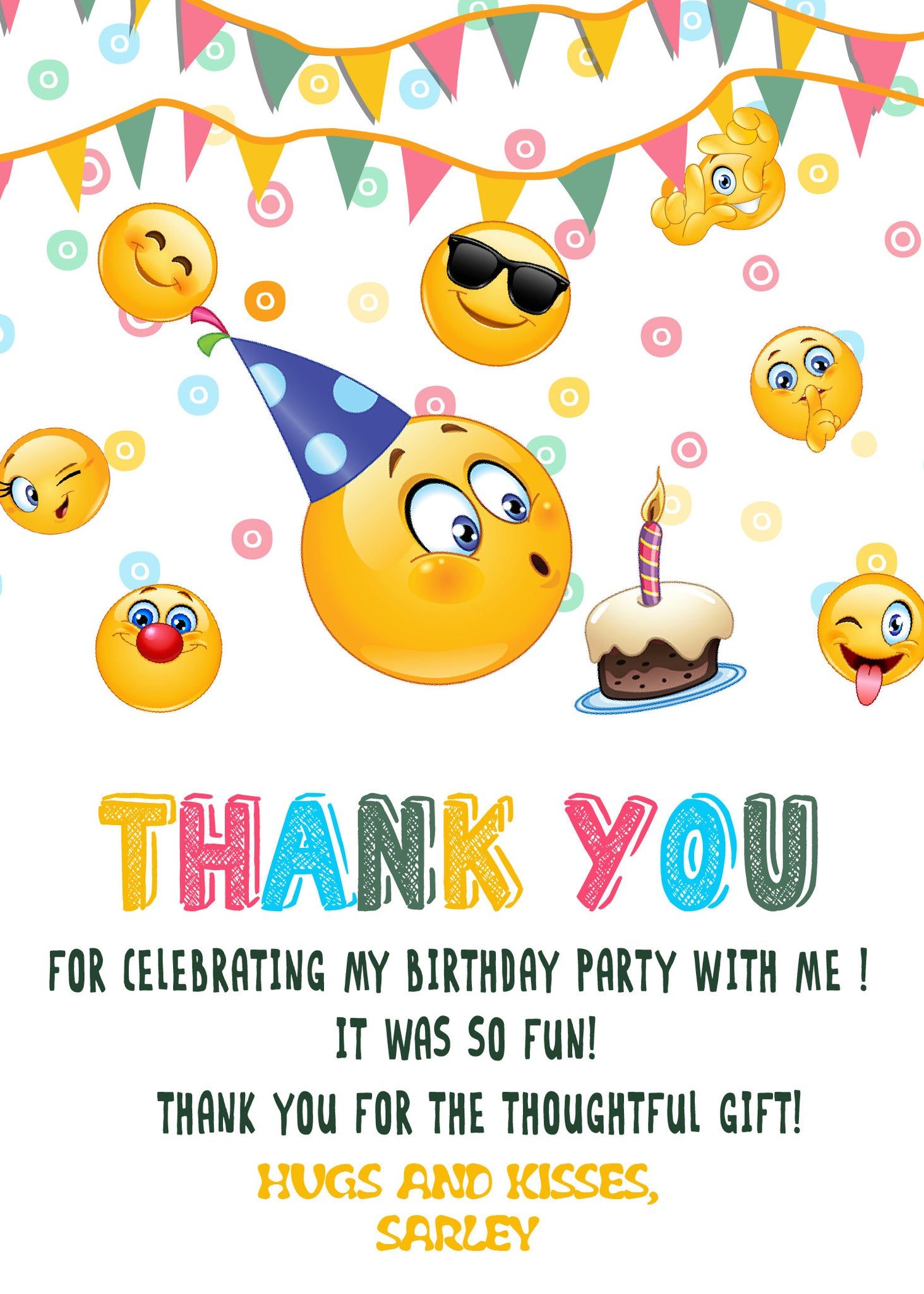 Emoji Birthday Party Invitation, Emoji Birthday, Emoji Party ...