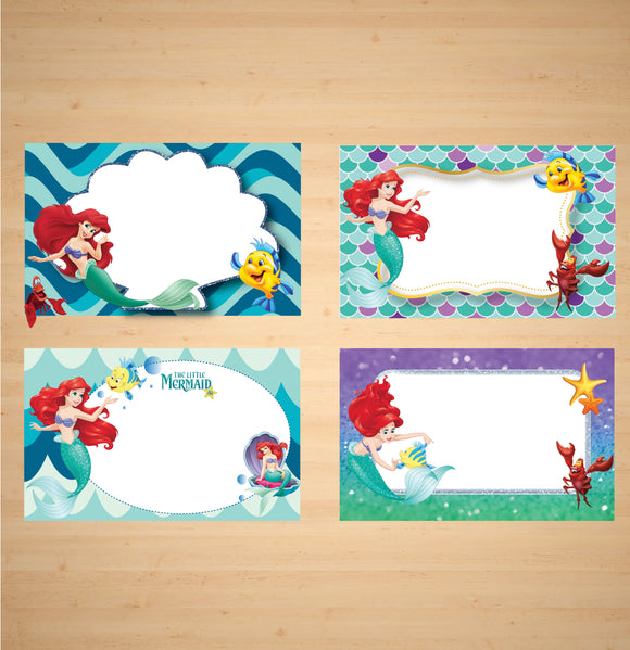 The Little Mermaid 2 Tent Cards Buffet labels Buffet Signs Food Tent Cards  sc 1 st  CardAnZ & The Little Mermaid 2 Tent Cards Buffet labels Buffet Signs Food ...