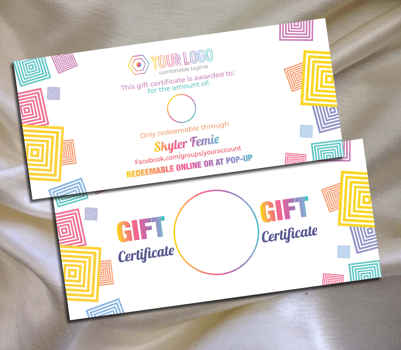 Marketing Kitcustom Gift Certificate Logo Llr Color Branding