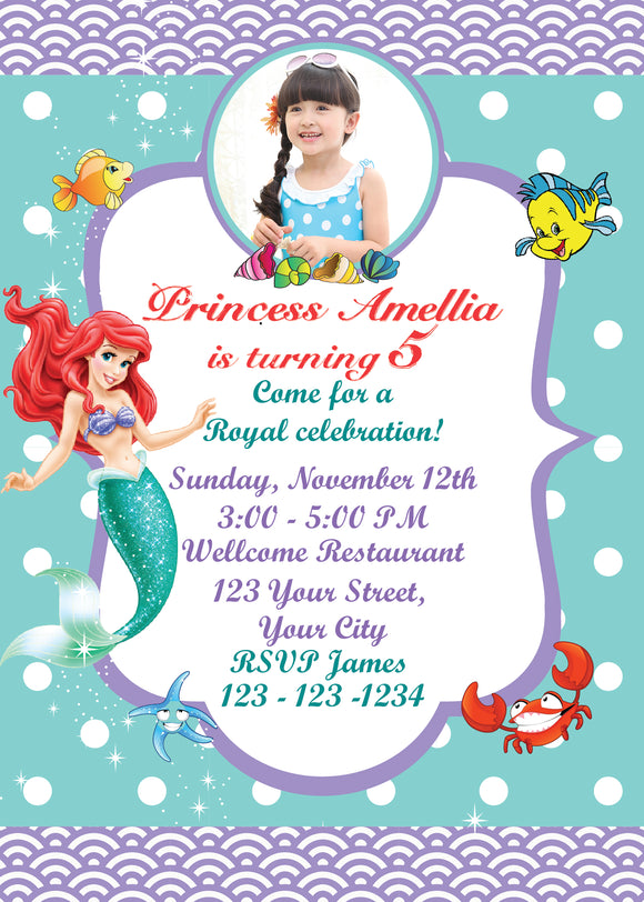 Little mermaid invitationariel birthday invitationslittle mermaid little mermaid invitationariel birthday invitationslittle mermaid birthday ariel invitationbirthday filmwisefo