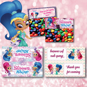 Shimmer Shine Treat Bags Birthday Party Favors