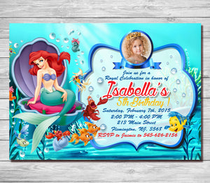 Little mermaid invitationariel birthday invitationslittle mermaid little mermaid invitationariel birthday invitationslittle mermaid invitation birthdayariel birthday party filmwisefo