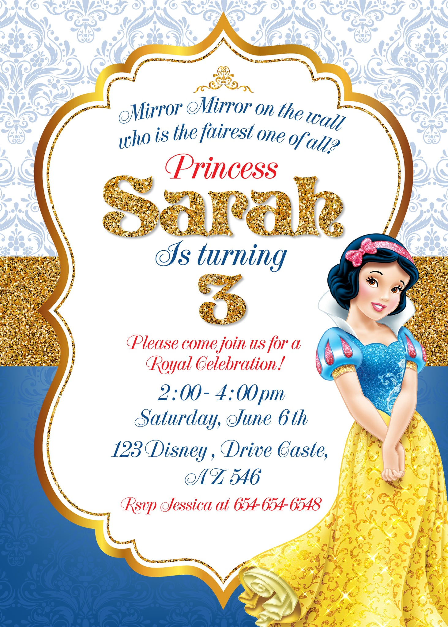 picture relating to Snow White Invitations Printable named totally free printable snow white invites - Sinma