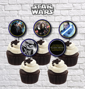 Star War Cupcake Toppers Printable Topper Party Supplies