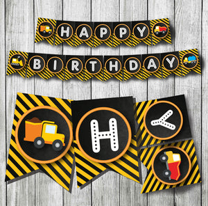 Under Construction Birthday Banner Party Decoration