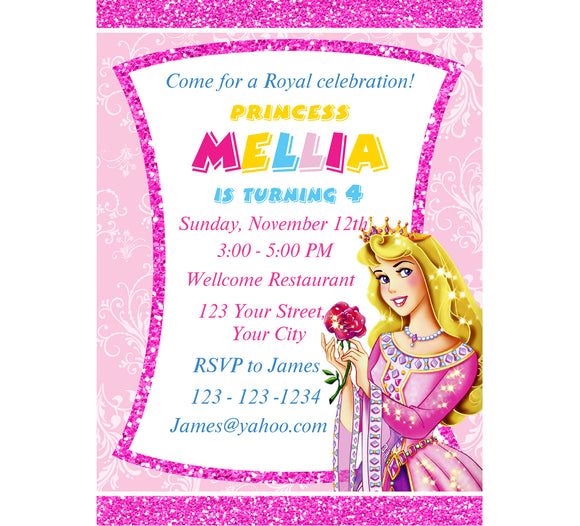 Princess Aurora Birthday InvitationPrincess InviteBirthday Invitation