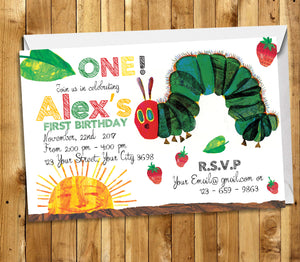 Very Hungry Caterpillar Invitation Very Hungry Caterpillar Birthday