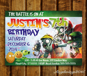 Plants vs zombies invitation plants vs zombies birthday party plants vs zombies invitation plants vs zombies birthday party invites zombies zo2 stopboris Gallery
