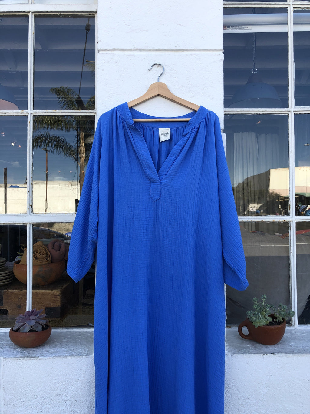 Cotton Gauze Caftan Dress