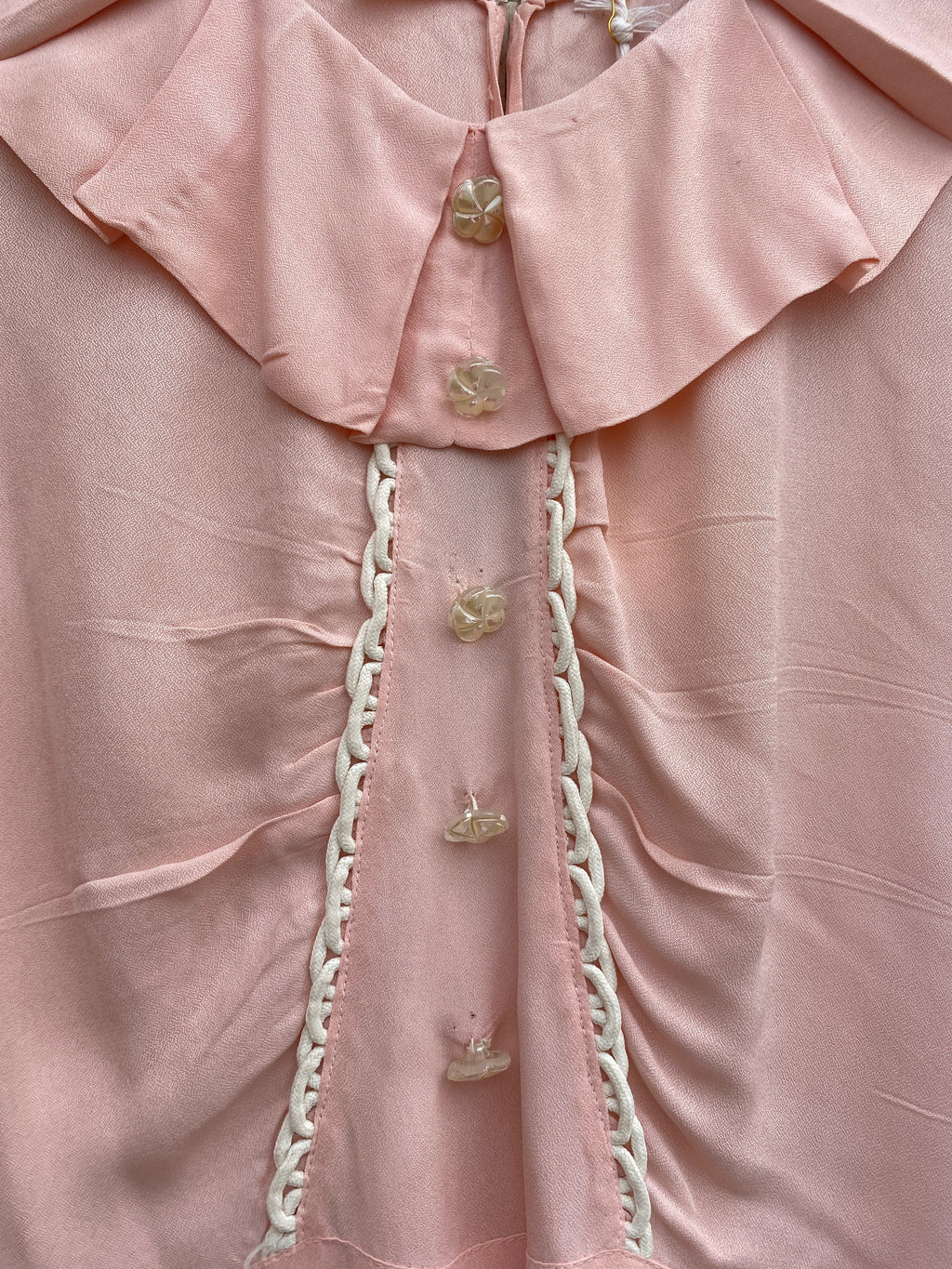 Vintage Pink Button Blouse