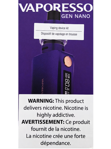 VAPORESSO GEN NANO KIT PURPLE