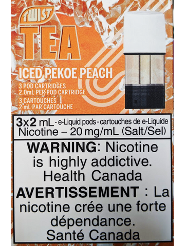 STLTH TWIST TEA ICED PEKOE PEACH PODS CANADA