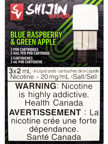 STLTH SHIJIN VAPOR BLUE RASPBERRY GREEN APPLE PODS CANADA