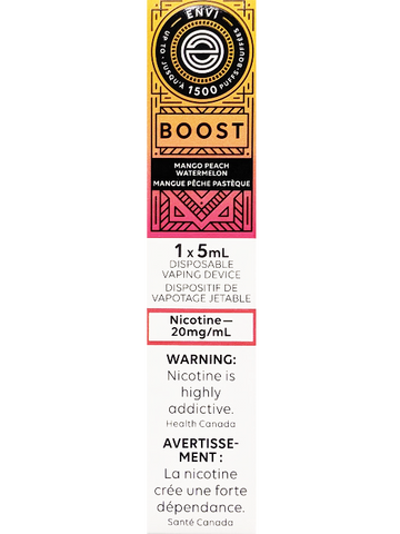 ENVI BOOST MANGO PEACH WATERMELON