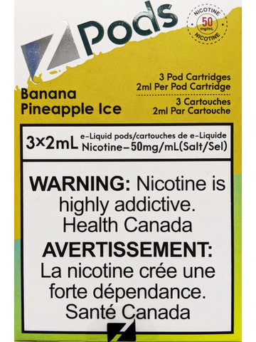 Z PODS BANANA PINEAPPLE ICE