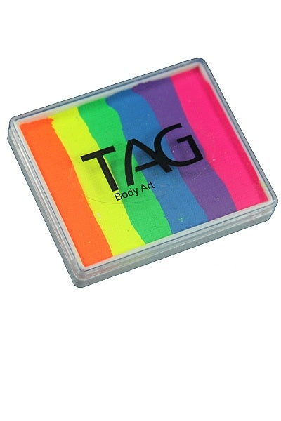Tag Split Cake Rainbow Neon
