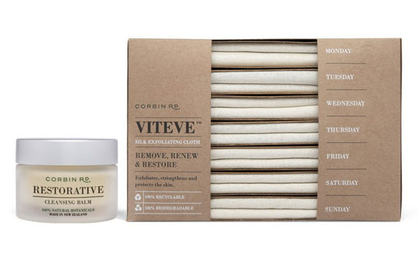 Corbin Rd- The Combo Pack 50g Restorative Cleansing Balm + 7 Piece Viteve™ Silk Exfoliating Cloth