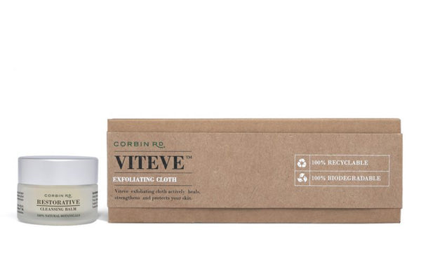 Corbin Rd- Travel Set – 10g Restorative Cleansing Balm + Single Viteve™ Silk Exfoliating Cloth