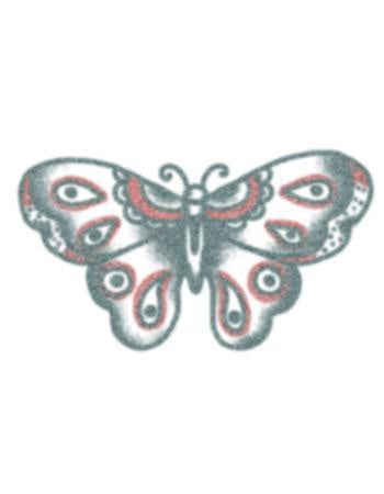 Vintage Black and Red Butterfly