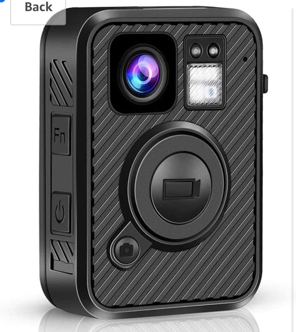 Body Camera 2K 1440P GPS No WiFi Version Police Body Camera One Big Button for 10Hs Recording Night Vision Camcorder with .66inch Screen