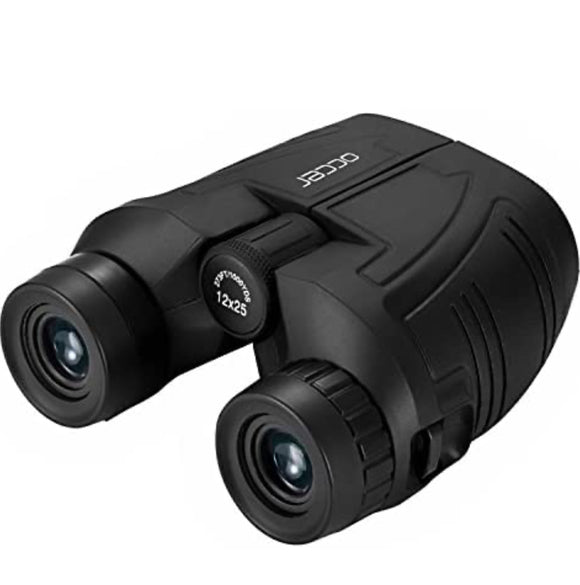 12x25 Compact Binoculars with Clear Low Light Vision, Large Eyepiece Waterproof Binocular
