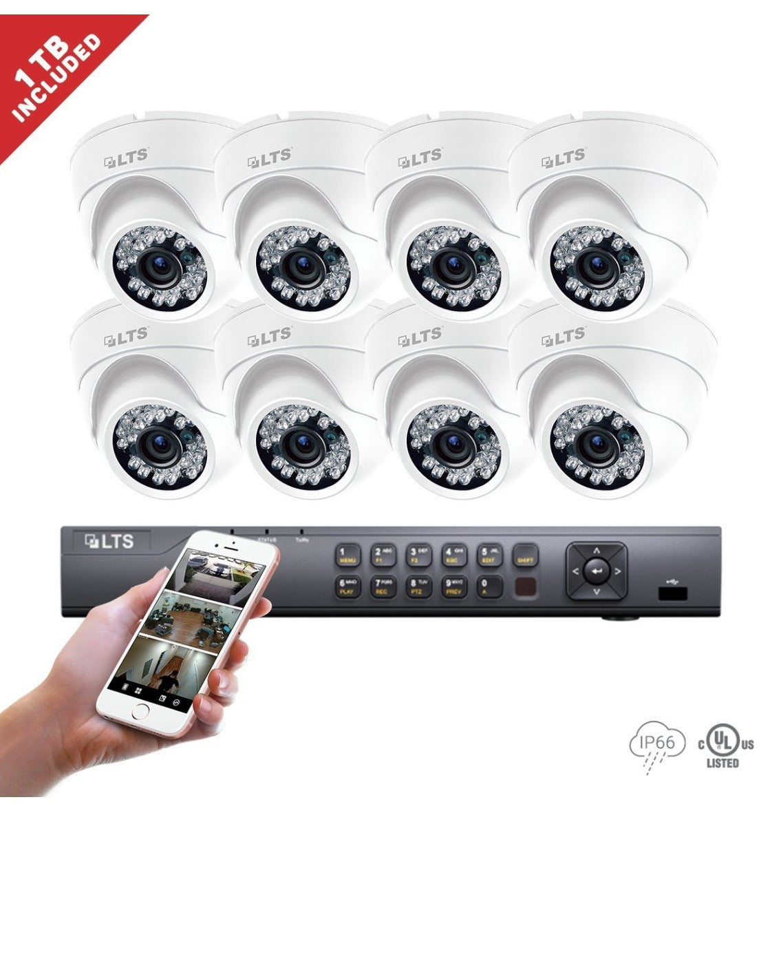 8 Channel LTS DVR + (8) * Platinum HD-TVI Turret – FPISPYSOURCE