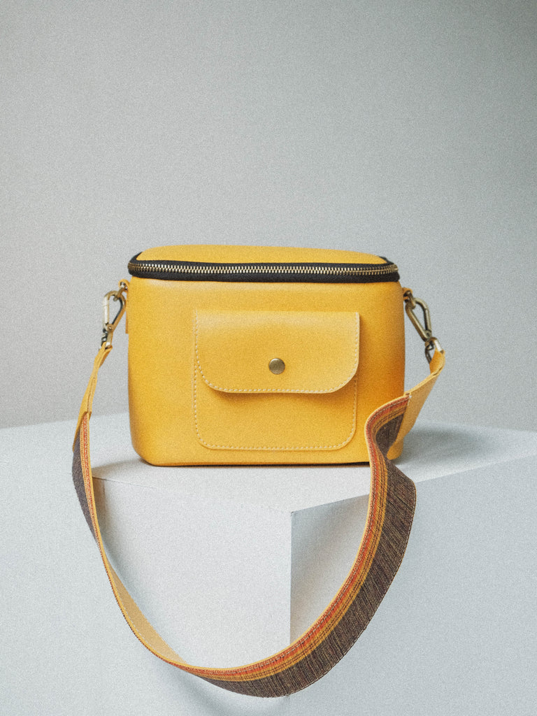 Box Satchel Narra (in Yellow)