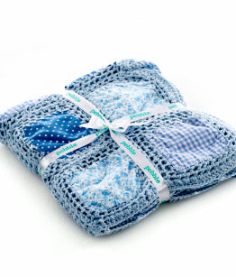Pebble Patchwork Blanket - Blue