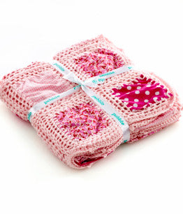Pebble Patchwork Blanket - Pink