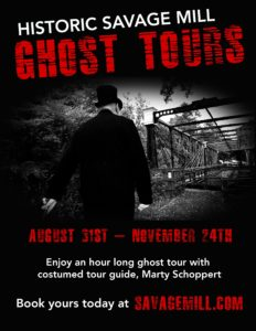 Ghost Tours - August 31st-November 24, 2018