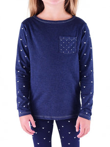 Blue Heart Long Sleeve Shirt
