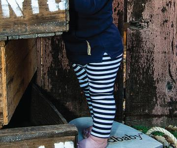 Navy/White Striped Pants